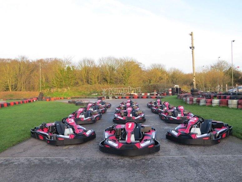 Line of karts