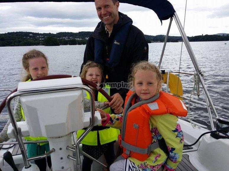 Little captain on board
