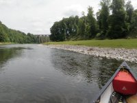 Canoe route through River tweed