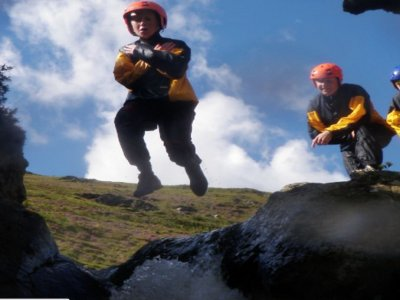 Ghyll Scrambling route in Lake District
