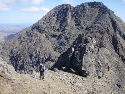 Mountain scrambling route at Lake District