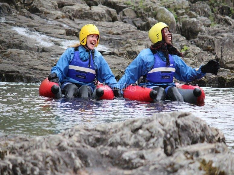 River Bugging with Splash Raft