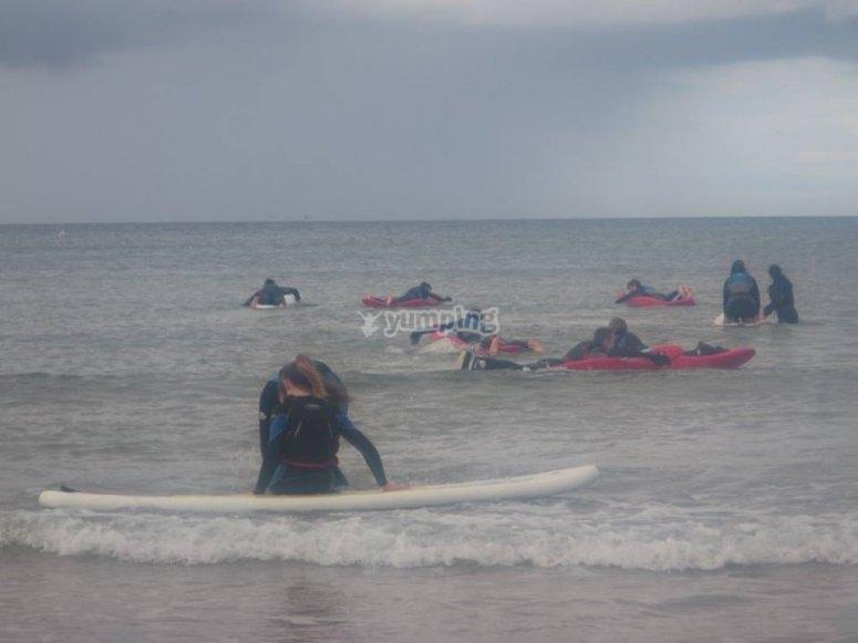Group taste of surfing