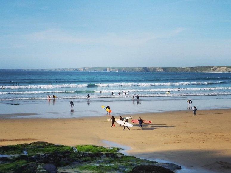 Open beaches