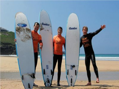 Surfing lesson for 2 in Newquay with video