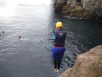 Coasteering session in Dorset half day