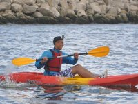 Single kayaker