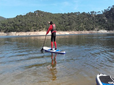 Paddle surfing rent in San Juan reservoir