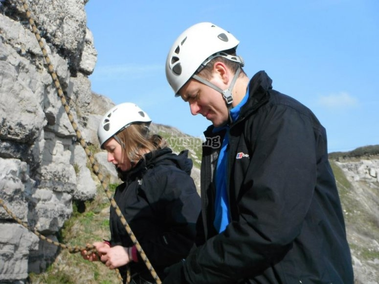 Couple of climbers