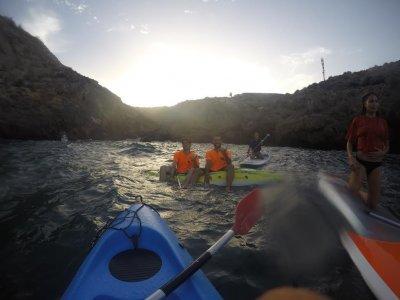 Kayak trip to the Cueva del Agua in Murcia