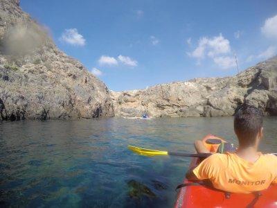 Kayak ride Cueva del Agua company special