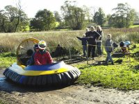 A great track to try out the hovercraft on.