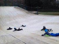 Dry snowboarding in Ski Rossendale