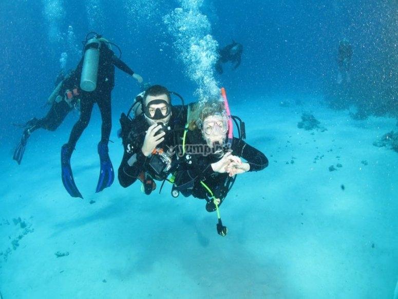 Explore close to the sea floor