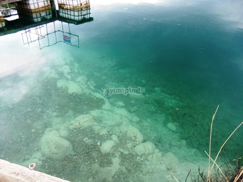 Lake blue waters