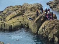 Extreme coasteering in Pembrokeshire