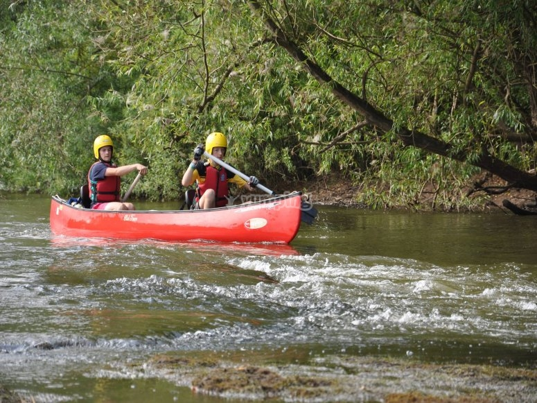 Canoe trip in Dorset
