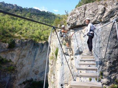 4-hour via ferrata tour in Cuenca with transport