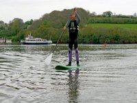 Solo paddleboarder