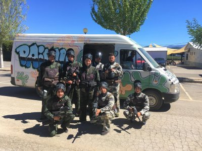 Paintball with food in Ponferrada - 300 balls