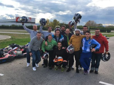 Karting Grand Prix in León with typical food.