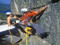 Outdoor cliff climbing