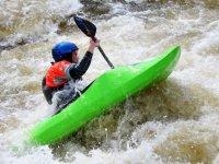 Intense white water kayaking