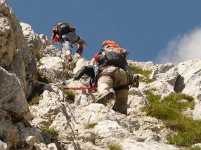 Via ferrata in Cazorla mountains for beginners