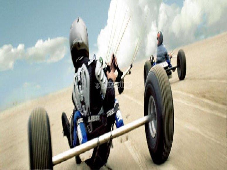 Kite buggy course