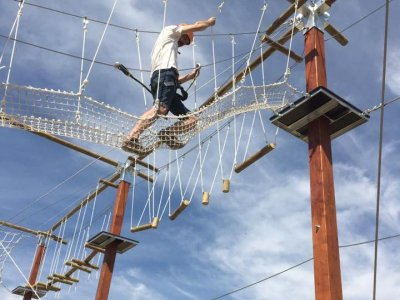 Adventure park and zip line with snack