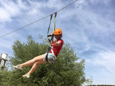 Zip-line and paintball at Madrid