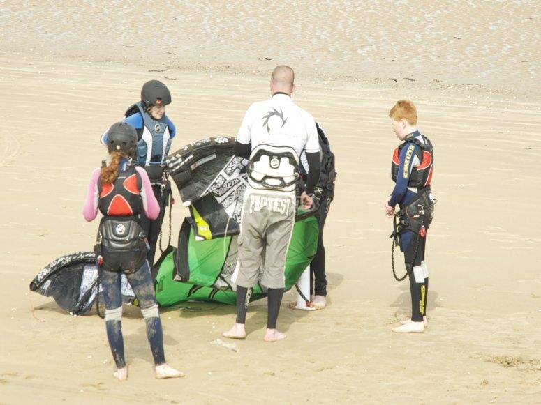 Rigging the kite