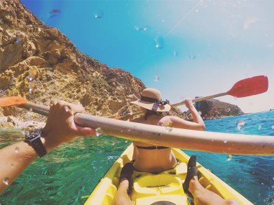Sailing by kayak in Roquetas del Mar 1h