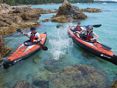 Two-seater kayak rental in Almeria for 1 hour