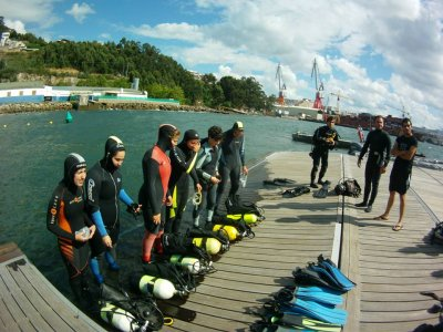 Diving baptism in Pontevedra
