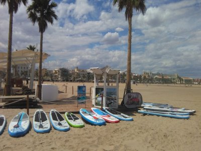 SUP equipment rental Alicante 2h
