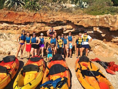 Double kayak hire in Dénia 4 hours