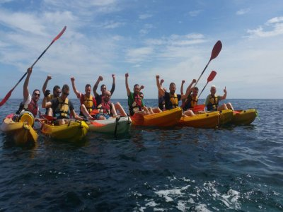Two-seater canoeing route in Dénia. For children