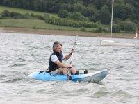 Kayaking on the waves