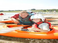 Kayaking instruction for young paddlers