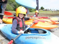 Little kayaker set to hit the water