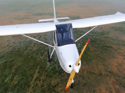 Tecnam and biplane flight in Cataluña