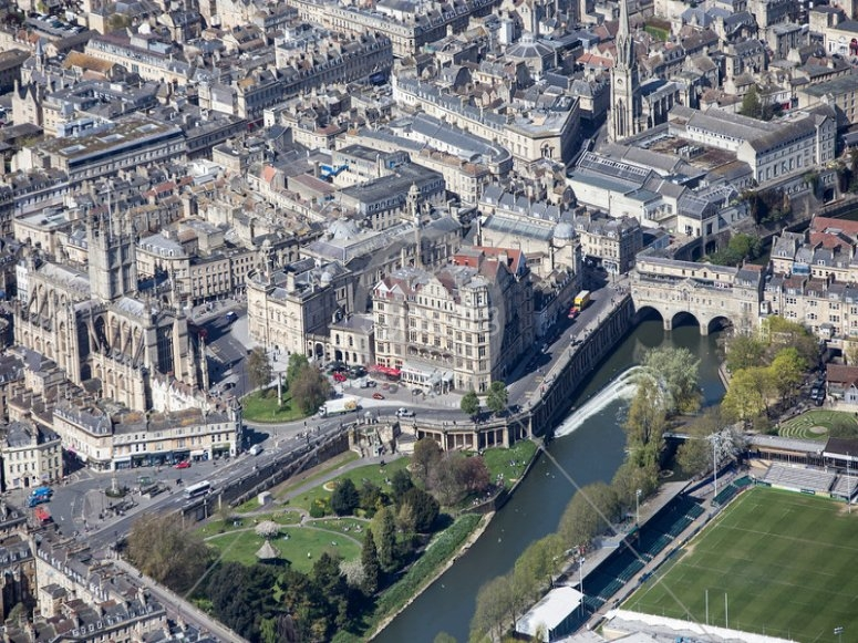Aerial photo of Bath