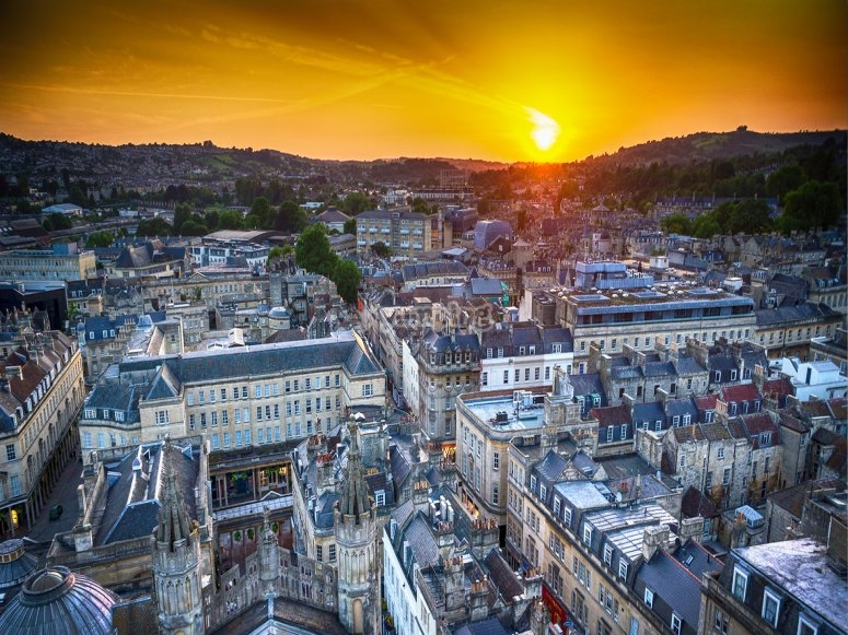 Bath at sunset