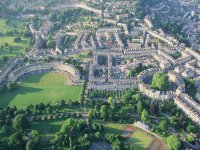 Aerial view of Bath