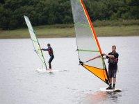 Windsurfing duo