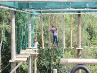 High up on the high ropes