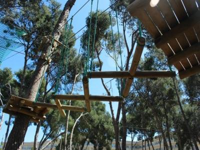Zip-lines circuit in Salou