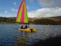 Sunny dinghy sailing