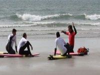 Instruction on the beach